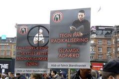 PROTEST VID HIZB UT-TAHIRIR AGAINT DANMARK Fotografering för Bildbyråer