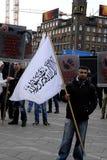 PROTEST VID HIZB UT-TAHIRIR AGAINT DANMARK Royaltyfri Fotografi