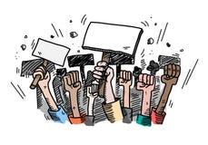 Protest von Leuten Stockbild