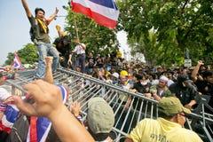 Protest von Thailand-Leuten gegen die Regierung Stockfotografie