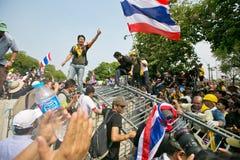 Protest von Thailand-Leuten gegen die Regierung Stockbilder