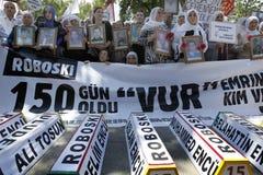 Protest voor Slachting Uludere Stock Foto's
