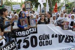 Protest voor Slachting Uludere Stock Afbeelding
