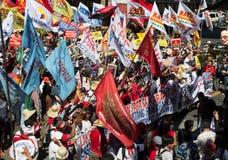 Protest während des Menschenrechts-Tages Stockfotos