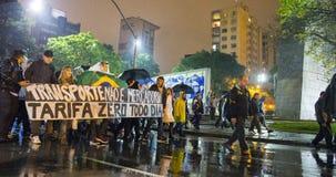 Protest w Brazylia Zdjęcia Stock