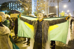 Protest w Brazylia Obrazy Stock