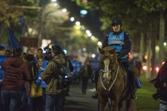 Protest w Bucharest - 05 2017 Listopad Obraz Royalty Free