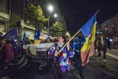 Protest w Bucharest - 05 2017 Listopad Zdjęcie Royalty Free