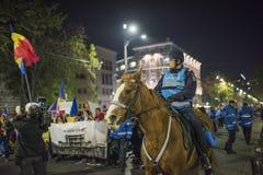 Protest w Bucharest - 05 2017 Listopad Zdjęcia Royalty Free