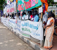 Protest w poparcie miastowych rdzennych narodach, India obrazy stock