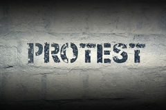 Protest WORD GR Royalty Free Stock Photos