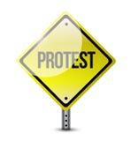 Protest yellow sign illustration design Stock Photo