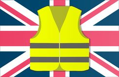 Protest yellow vests in the capital of England London. Vector illustration vector illustration