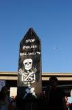 Protest-Zeichen von besetzen Oakland März, 2. November, '11 Stockfotos