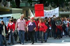 Protesta 2 di VER.DI Fotografie Stock Libere da Diritti