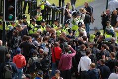 Protesta 28/08/10 de Bradford EDL Foto de archivo