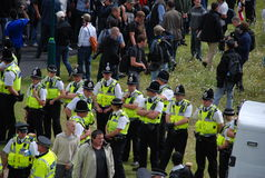 Protesta 28/08/10 de Bradford EDL Fotografía de archivo