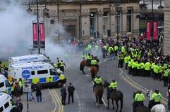 Protesta 28/08/10 de Bradford EDL Foto de archivo libre de regalías