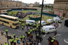 Protesta 28/08/10 di Bradford EDL Fotografie Stock