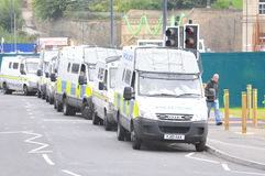Protesta 28/08/10 di Bradford EDL Immagini Stock