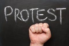 Protesta Fotografia Stock Libera da Diritti