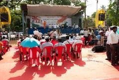 Protesta anti de la corrupción en la India Imagenes de archivo