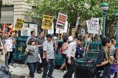 Protesta anti de la guerra Imagen de archivo