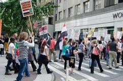 Protesta anti de la guerra Imágenes de archivo libres de regalías