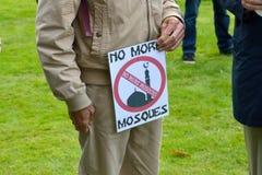 Protesta anti del Islam imagen de archivo