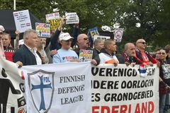 Protesta anti del Islam imágenes de archivo libres de regalías