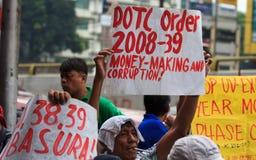 Protesta antigovernativa Fotografia Stock Libera da Diritti