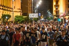 Protesta antigovernativa a Bucarest - 12 agosto 2018 Immagini Stock Libere da Diritti