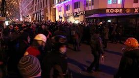 Protesta antigubernamental almacen de metraje de vídeo