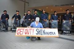 """Protesta antigubernamental de la """"máscara blanca"""" en Bangkok Fotos de archivo"""