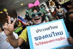 Protesta antigubernamental en Bangkok Foto de archivo libre de regalías