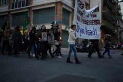 Protesta a Atene Fotografie Stock