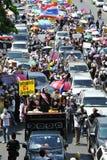 Protesta blanca antigubernamental de la máscara en Bangkok Imagen de archivo