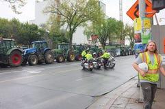 Protesta canadese degli agricoltori di latteria Immagine Stock