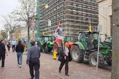 Protesta canadese degli agricoltori di latteria Immagini Stock Libere da Diritti