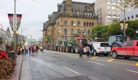 Protesta canadese degli agricoltori di latteria Fotografia Stock Libera da Diritti