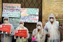 Protesta contra los bancos 01 Foto de archivo libre de regalías