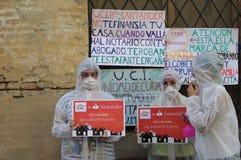 Protesta contra los bancos 02 Imagen de archivo libre de regalías