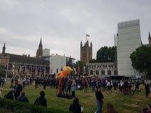 Protesta contra presidente Donald Trump State Visit en el Reino Unido imagen de archivo