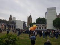 Protesta contra presidente Donald Trump State Visit en el Reino Unido imágenes de archivo libres de regalías