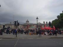Protesta contra presidente Donald Trump State Visit en el Reino Unido foto de archivo