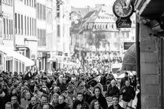 Protesta contra reformas del trabajo en Francia Imágenes de archivo libres de regalías