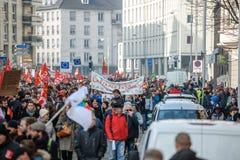 Protesta contra reformas del trabajo en Francia Fotos de archivo