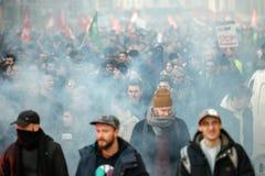 Protesta contra reformas del trabajo en Francia Imagenes de archivo