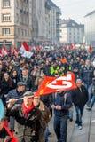 Protesta contra reformas del trabajo en Francia Foto de archivo