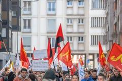 Protesta contra reformas del trabajo en Francia Fotos de archivo libres de regalías